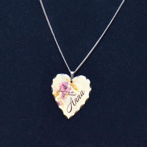 Flowers Memorial Heart Pendant