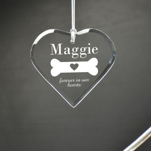 Loss of Dog Personalized Heart Ornament