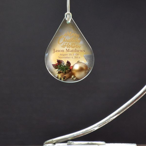 Merry Christmas In Heaven Personalized Ornament