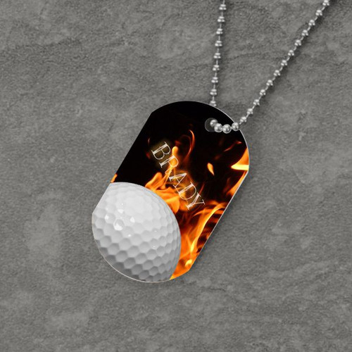 Feel the Fire Golf Dog Tag