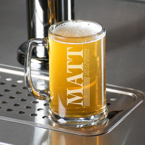 Traditional Bridal Party Beer Mug