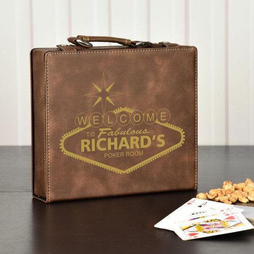 Vegas Style Personalized Poker Set
