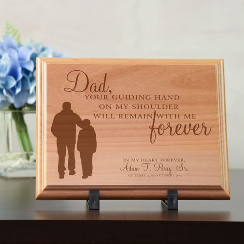 Dad's Guiding Hand Memorial Plaque