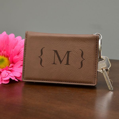Modern Monogram Key Chain Wallet
