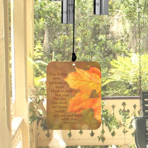 The front of the wind sail is printed with verse about the sorrow of lives lost