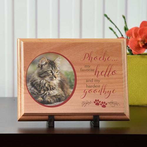 Hardest Goodbye Memorial Wood Plaque