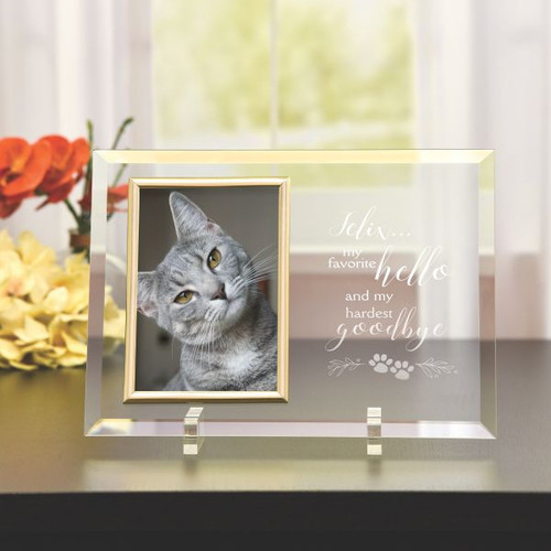 Personalized Glass Pet Memorial Frame
