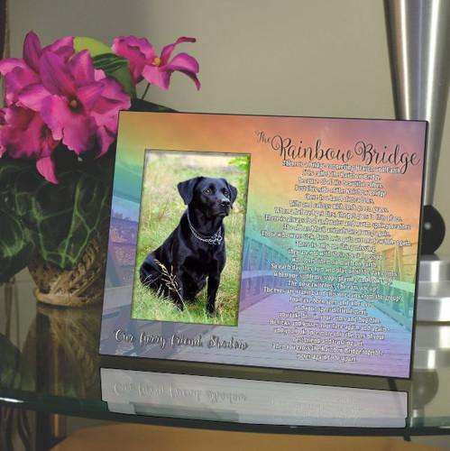 The Rainbow Bridge Pet Memorial Frame