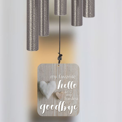 Hardest Goodbye Pet Memorial Wind Chime