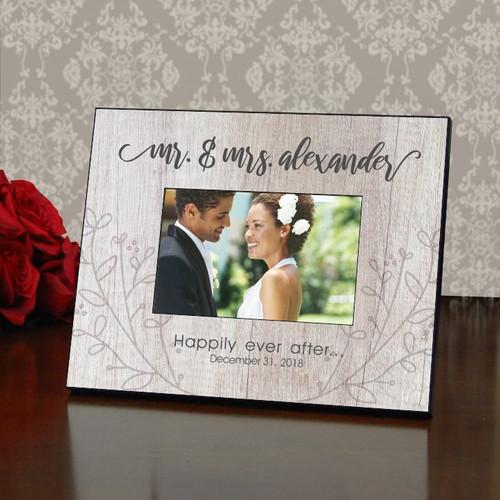 Mr. & Mrs. Rustic Wedding Frame