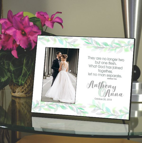 Two Become One Wedding Frame