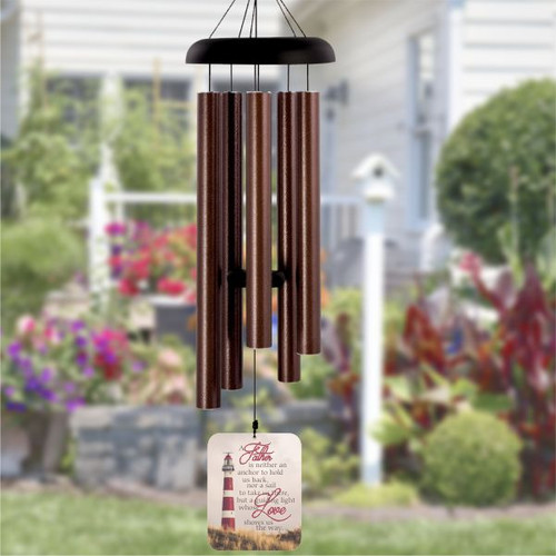 My Father My Guide Personalized Memorial Wind chime for loss of father