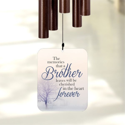 Loss of Brother memorial wind chimes