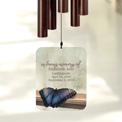 Personalize this memorial wind chime for loss of mother