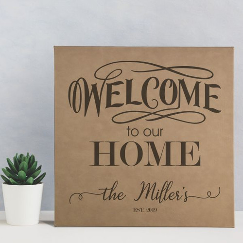 Welcome Personalized Family Wall Art