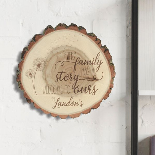 Our Story Personalized Family Wood Sign
