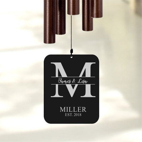 Personalized wind chimes for family gift