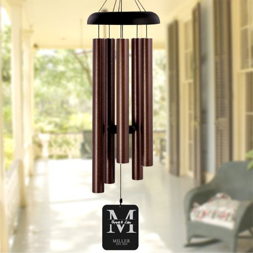 Personalized monogram wind chimes