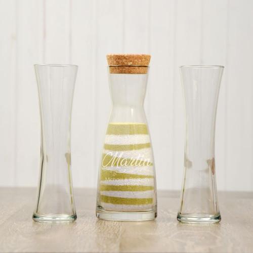 Personalized unity sand vase for wedding ceremony