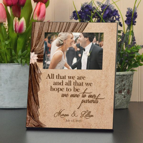 Personalized Frame for parents of Bride & Groom