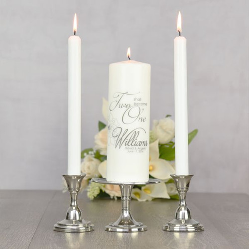 Personalized Unity Candle for Wedding Ceremony