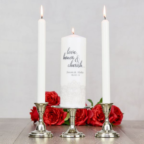Love, Honor & Cherish Unity Candle