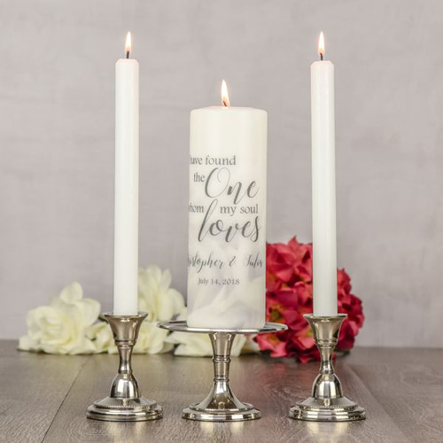 Personalized Unity Candle for Wedding