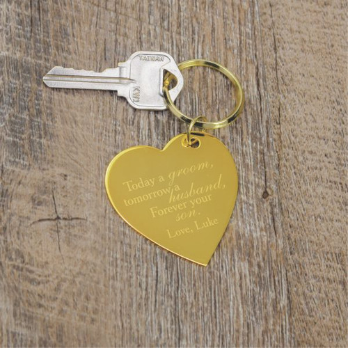 Personalized keychain for Mother of the Groom