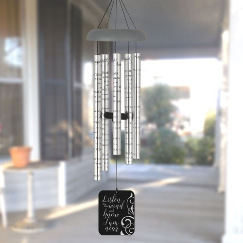 Personalized memorial Wind Chimes - Listen to the Wind