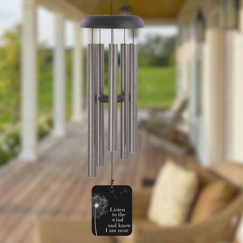 Listen to the wind personalized sympathy wind chime