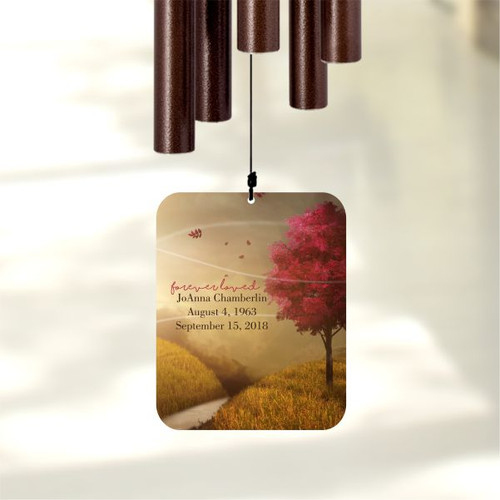 Personalize this sympathy wind chime
