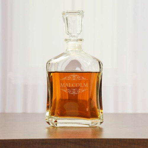 A Gentleman's Personalized Whiskey Decanter