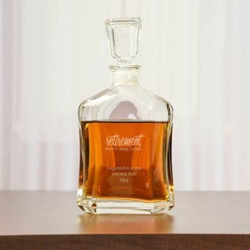 Retirement Whiskey Decanter Personalized