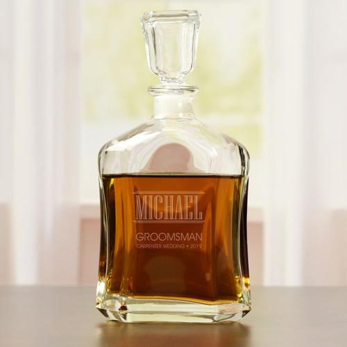 Groomsman Whiskey Decanter