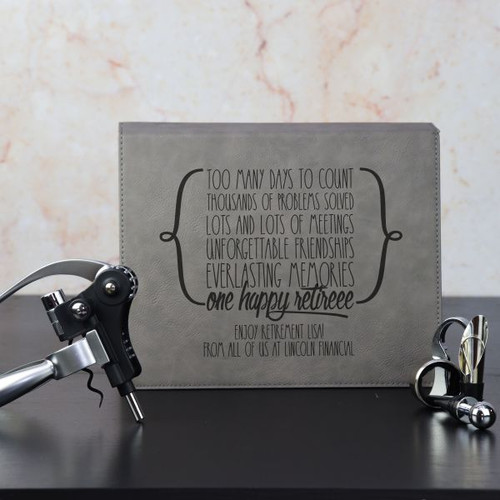Personalized Wine Set shown in Grey