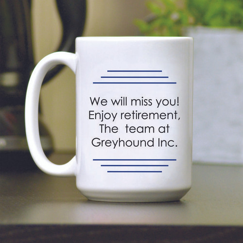 Quitter Retirement Coffee Mug Personalized