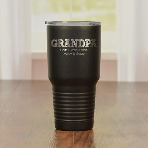 Personalized Grandpa Tumbler Black