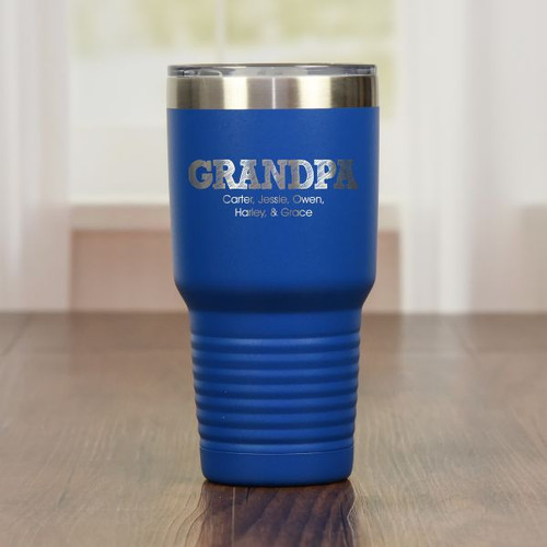 Personalized Grandpa Tumbler Blue