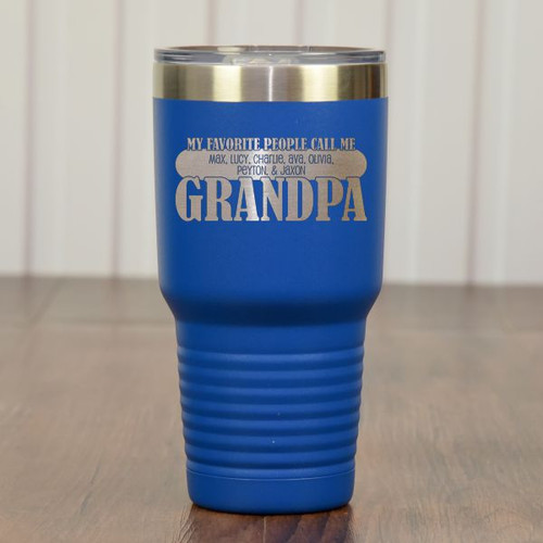 Grandpas Favorites Tumbler Blue