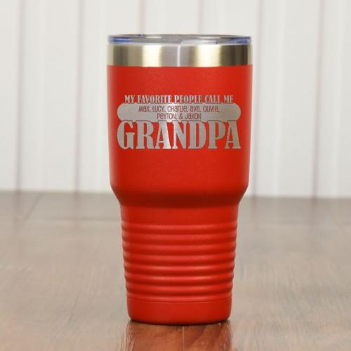 Grandpas Favorites Tumbler Red