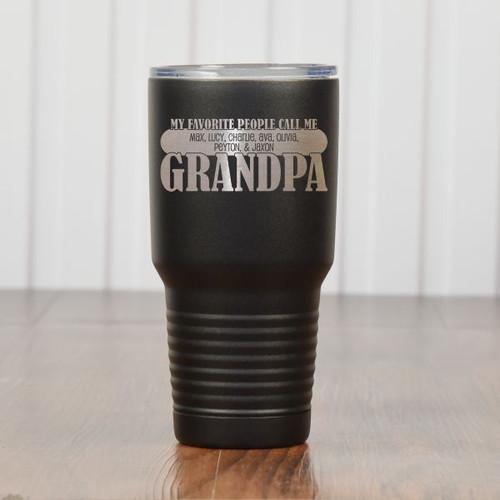 Grandpas Favorites Tumbler Black