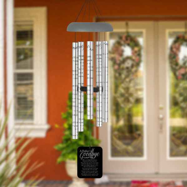 Wind Chimes Angels A Fathers Goodbye Angel Chime