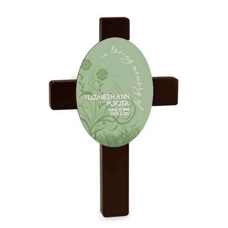 Plaque Wall Cross Spring Time Sympathy Cross