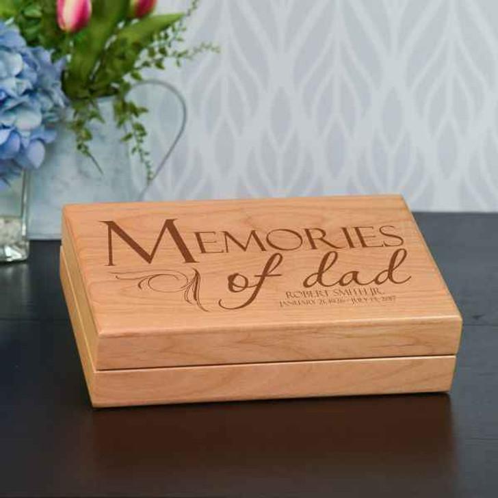 Keepsake Box Alder Memories of Dad Keepsake Box