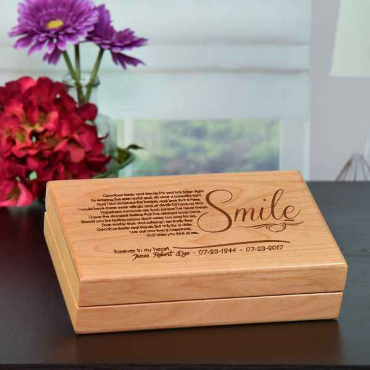 Keepsake Box Alder Smile Keepsake Box