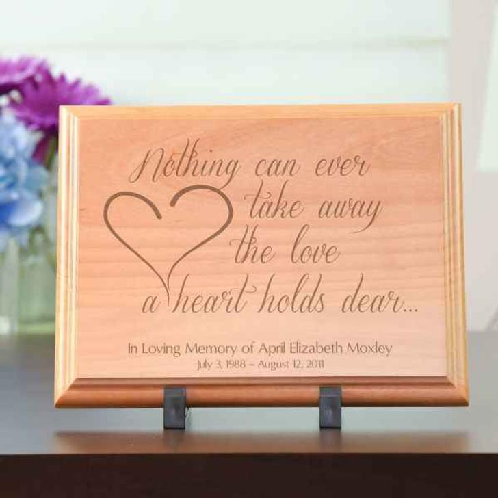 Plaque Alder The Love a Heart Holds Dear Plaque