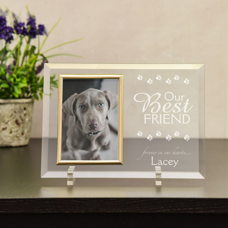 Our Best Friend Personalized Pet Memorial Frame