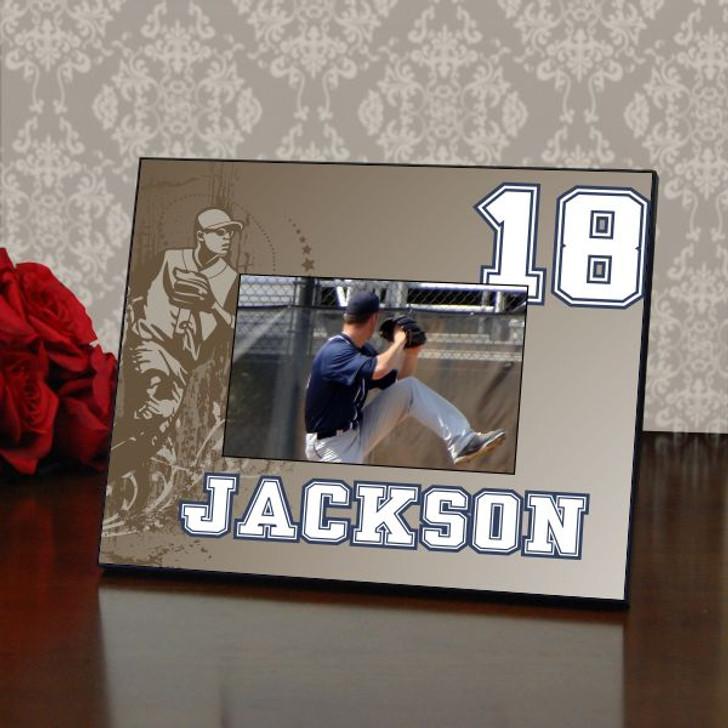 Retro Personalized Baseball Picture Frame