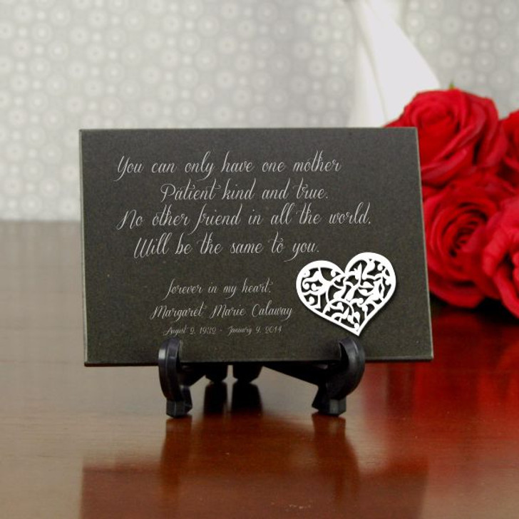 One Mother Personalized Memorial Plaque