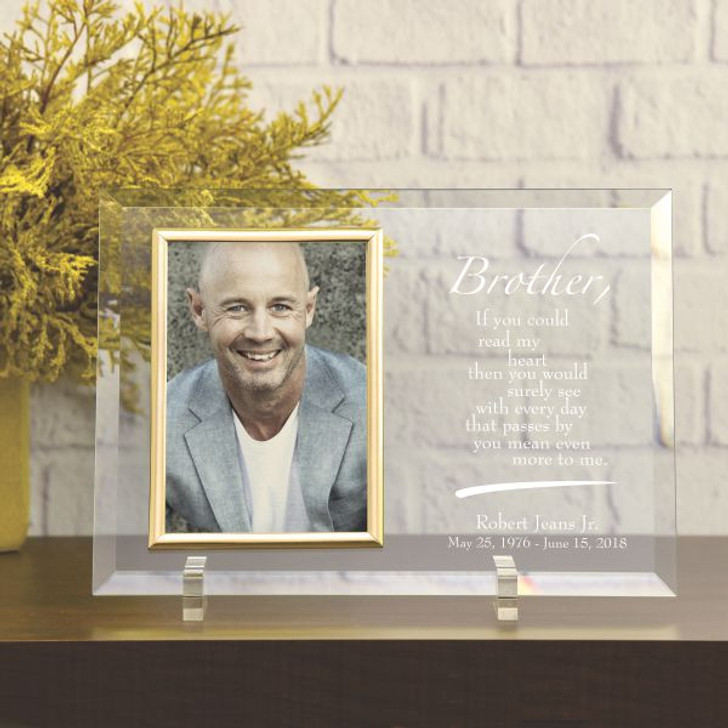 Brother Personalized Memorial Glass Frame